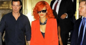 Rihanna brushes off criticism as she performs for famous audience